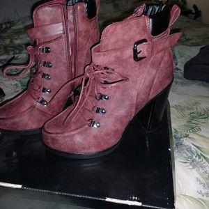 Torrid Lace Up Combat Ankle Boots